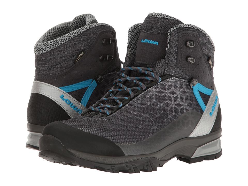 Lowa Lyxa GTX Mid (Anthracite/Blue) Women's Shoes