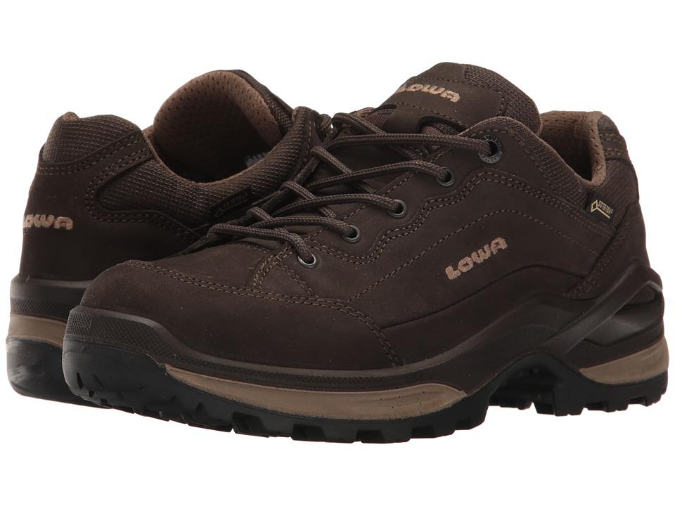 Lowa Renegade GTX Lo (Dark Brown/Beige) Women's Shoes