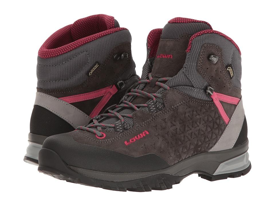 Lowa Sassa GTX Mid (Anthracite/Berry) Women's Shoes