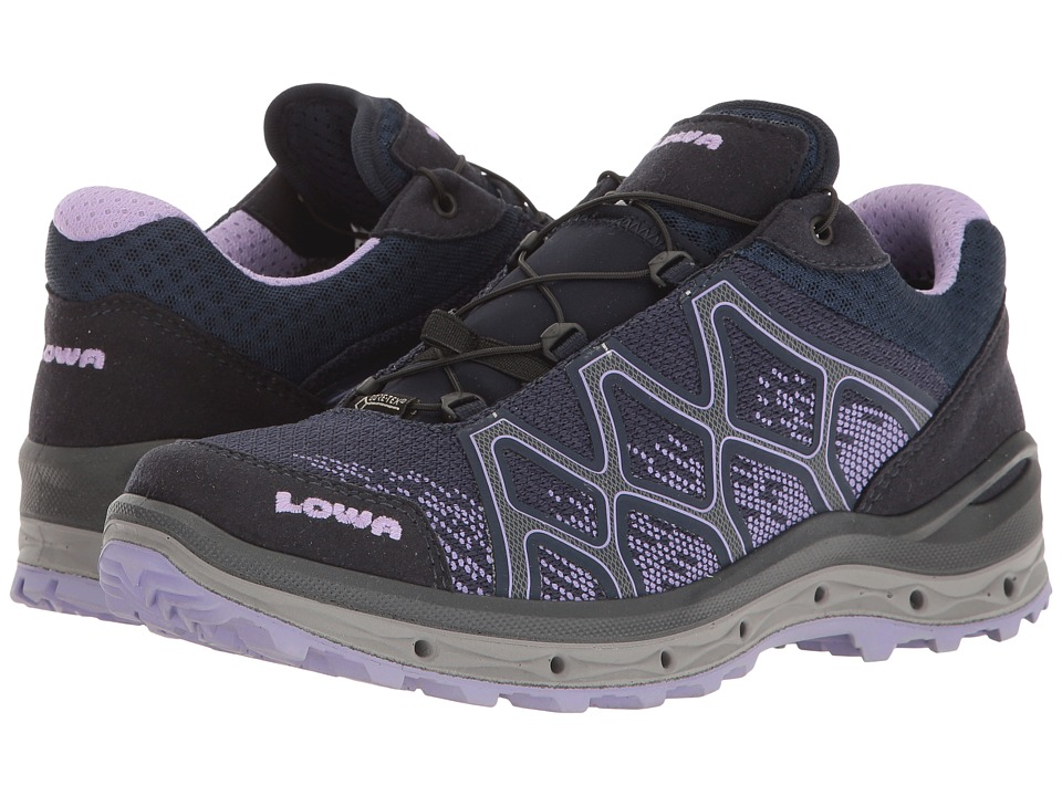 Lowa Aerox GTX Lo Surround (Navy/Lilac) Women's Shoes
