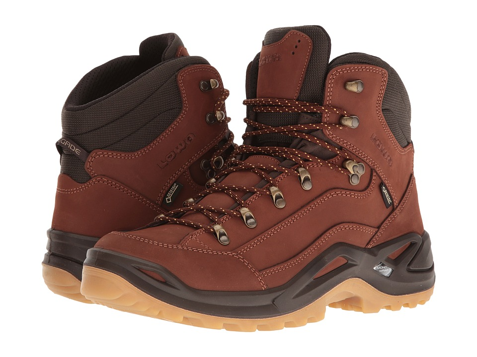 Lowa - Renegade GTX Mid (Cognac/Dark Brown) Mens Hiking Boots