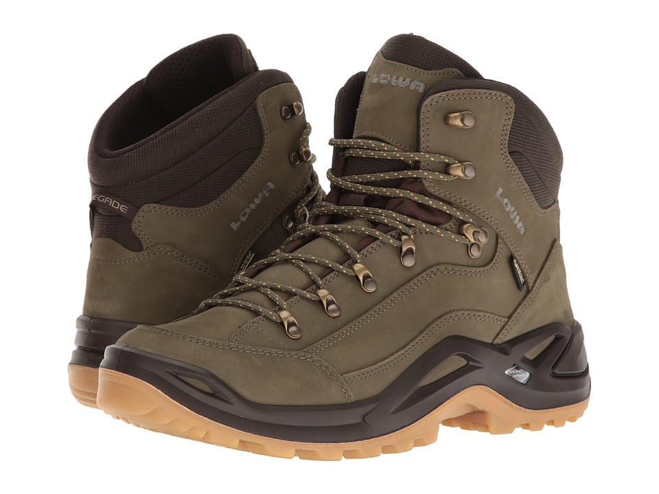 Lowa Renegade GTX Mid (Forest/Dark Brown) Men's Hiking Boots