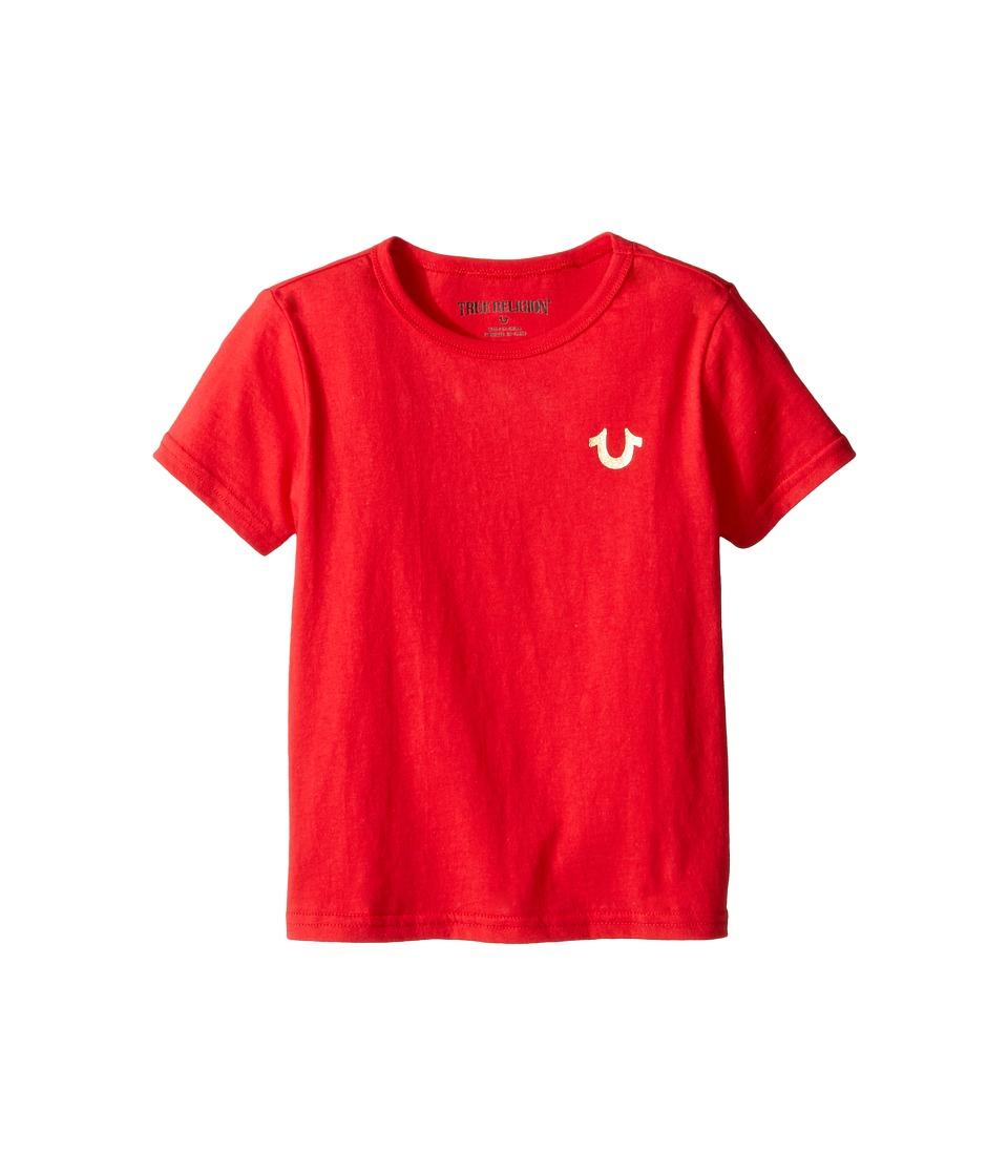 True Religion Kids Gold Buddha Logo Tee (Toddler/Little Kids) (Bright Red) Boy