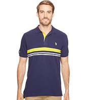 U.S. POLO ASSN. - Striped Classic Fit Short Sleeve Pique Polo Shirt