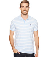 U.S. POLO ASSN. - Slim Fit Solid Short Sleeve Slub Polo Shirt