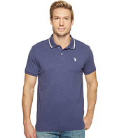 U.S. POLO ASSN. - Slim Fit Short Sleeve Solid Interlock Polo Shirt