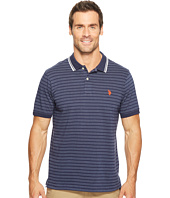 U.S. POLO ASSN. - Slim Fit Short Sleeve Printed Jersey Polo Shirt