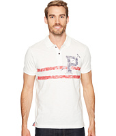 U.S. POLO ASSN. - Slim Fit Striped Short Sleeve Slub Polo Shirt