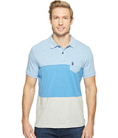 U.S. POLO ASSN. - Striped Short Sleeve Classic Fit Slub Polo Shirt