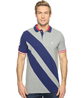U.S. POLO ASSN. - Diagonal Stripe Short Sleeve Classic Fit Polo Shirt