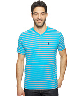 U.S. POLO ASSN. - Short Sleeve Striped V-Neck Classic Fit T-Shirt