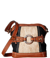 b.o.c. - Nayarit Vinyl/Straw Dome Crossbody