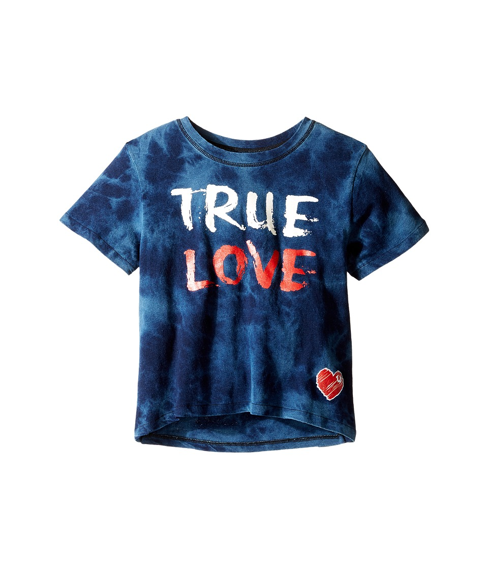 True Religion Kids True Love Drape Tee (Big Kids) (Indigo) Girl
