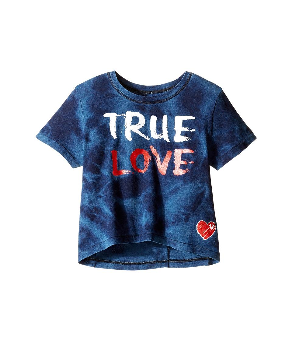 True Religion Kids True Love Drape Tee (Toddler/Little Kids) (Indigo) Girl