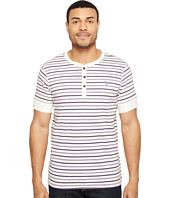 U.S. POLO ASSN. - Striped Short Sleeve Henley Classic Fit T-Shirt