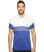 U.S. POLO ASSN. - Striped Short Sleeve Classic Fit Interlock Polo Shirt