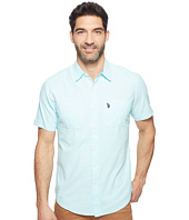 U.S. POLO ASSN. - Solid Short Sleeve Slim Fit Two-Pocket Sport Shirt