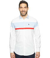 U.S. POLO ASSN. - Long Sleeve Color Blocked Classic Fit Sport Shirt