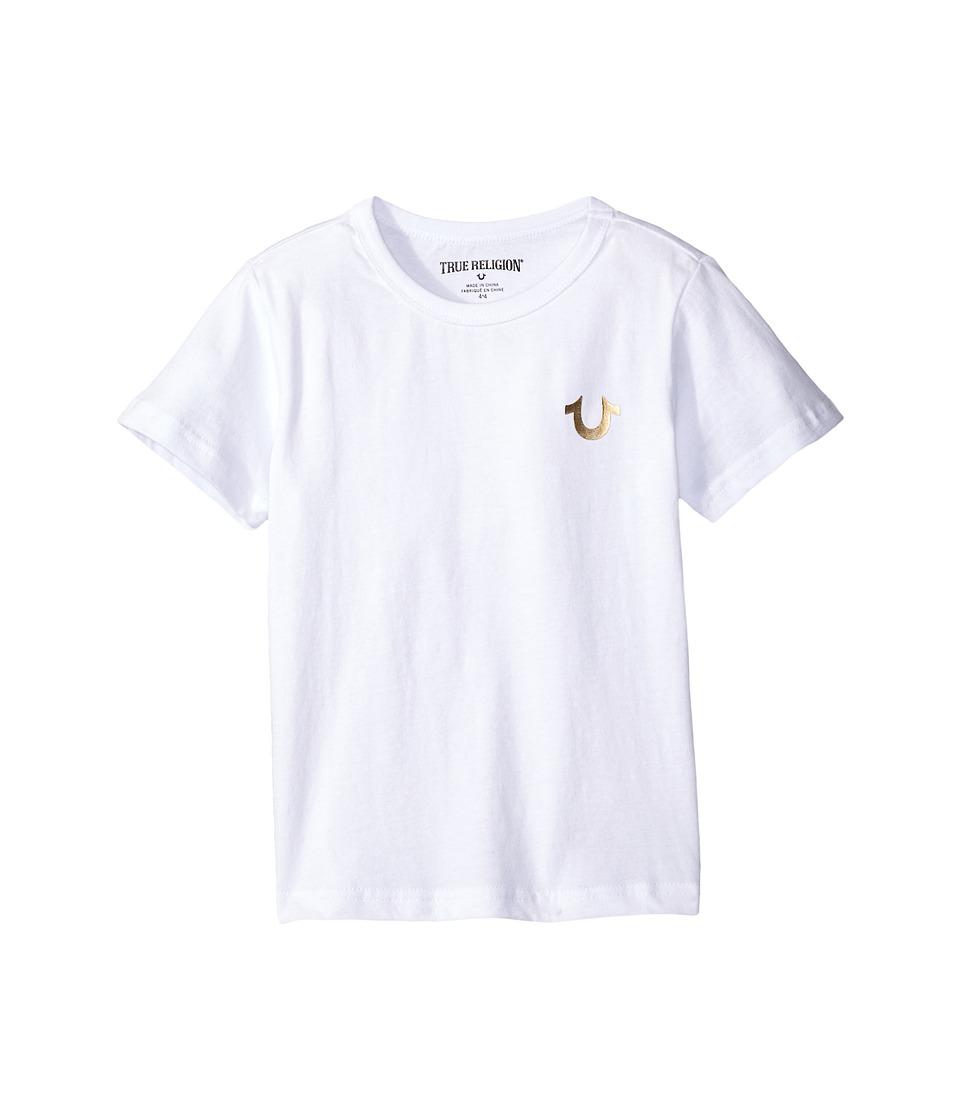 True Religion Kids Gold Buddha Logo Tee (Toddler/Little Kids) (White) Boy