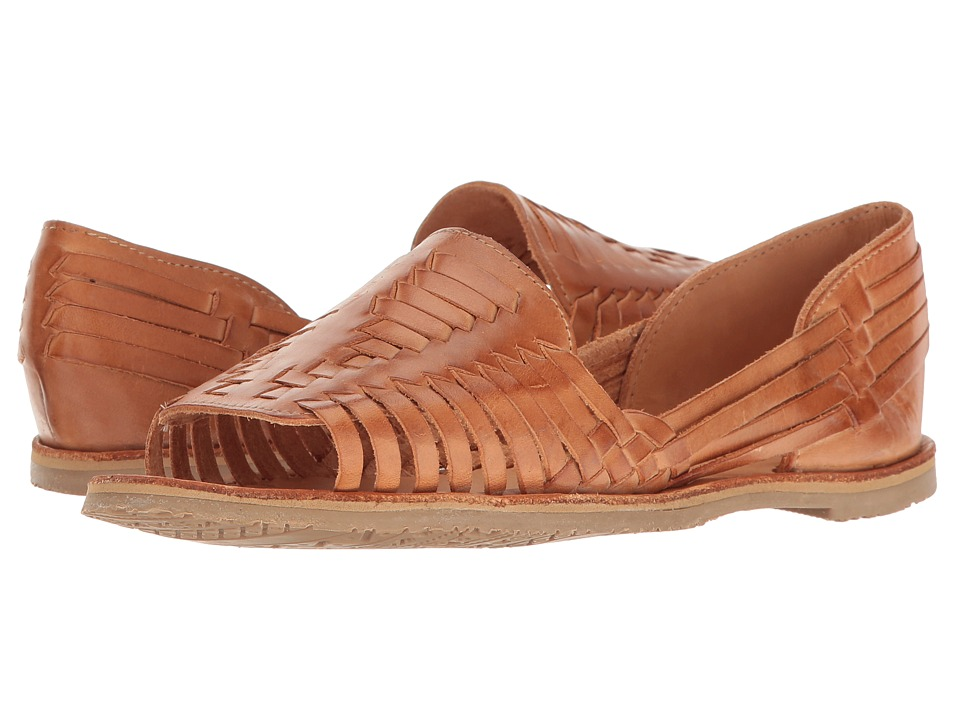 Vintage Sandal History: Retro 1920s to 1970s Sandals Sbicca Jared Tan Womens Flat Shoes $64.99 AT vintagedancer.com