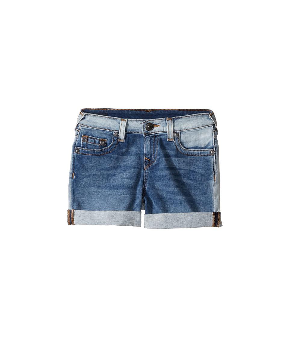 True Religion Kids - Audrey Boyfriend Shorts in Side Car Blue