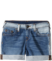 True Religion Kids - Audrey Boyfriend Shorts in Side Car Blue (Big Kids)