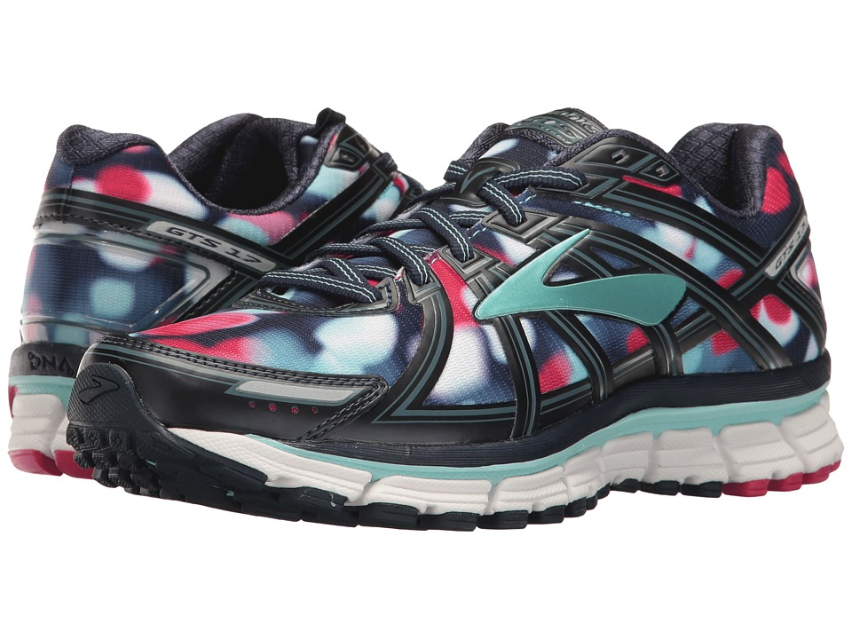 BROOKS Adrenaline GTS 17 (Navy/Blue/Pink) Women's Running...