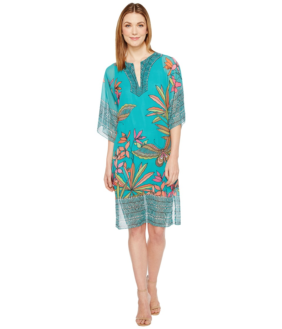 Trina Turk Joceline Dress (Cabana Teal) Women