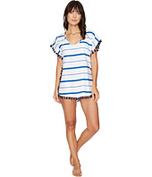 Plush - Soleil Striped Cover-Up w/ Fringe