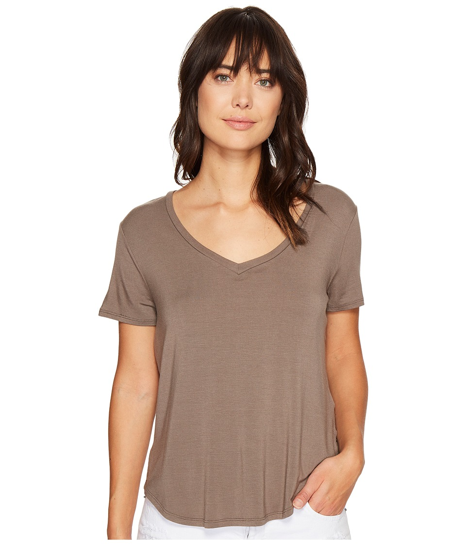 Volcom Lived in Tee (Brown Khaki) Women