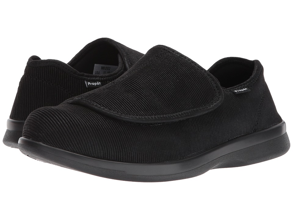 Propet - Cush n Foot Medicare/HCPCS Code = A5500 Diabetic Shoe (Black Corduroy) Mens Slip on  Shoes