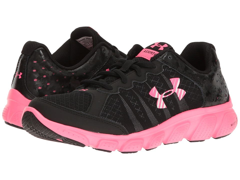 Under Armour Kids UA GGS Micro Gtm Assert 6 (Big Kid) (Black/Mojo Pink/Mojo Pink) Girls Shoes