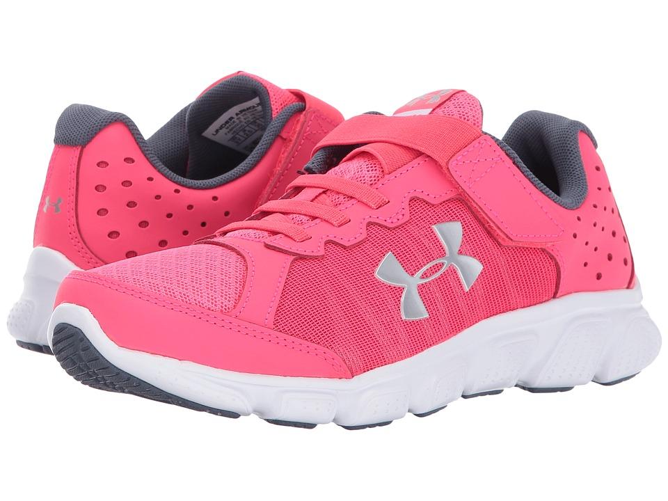 Under Armour Kids UA GPS Assert 6 AC (Little Kid) (Penta Pink/White/Silver Metallic Silver) Girls Shoes