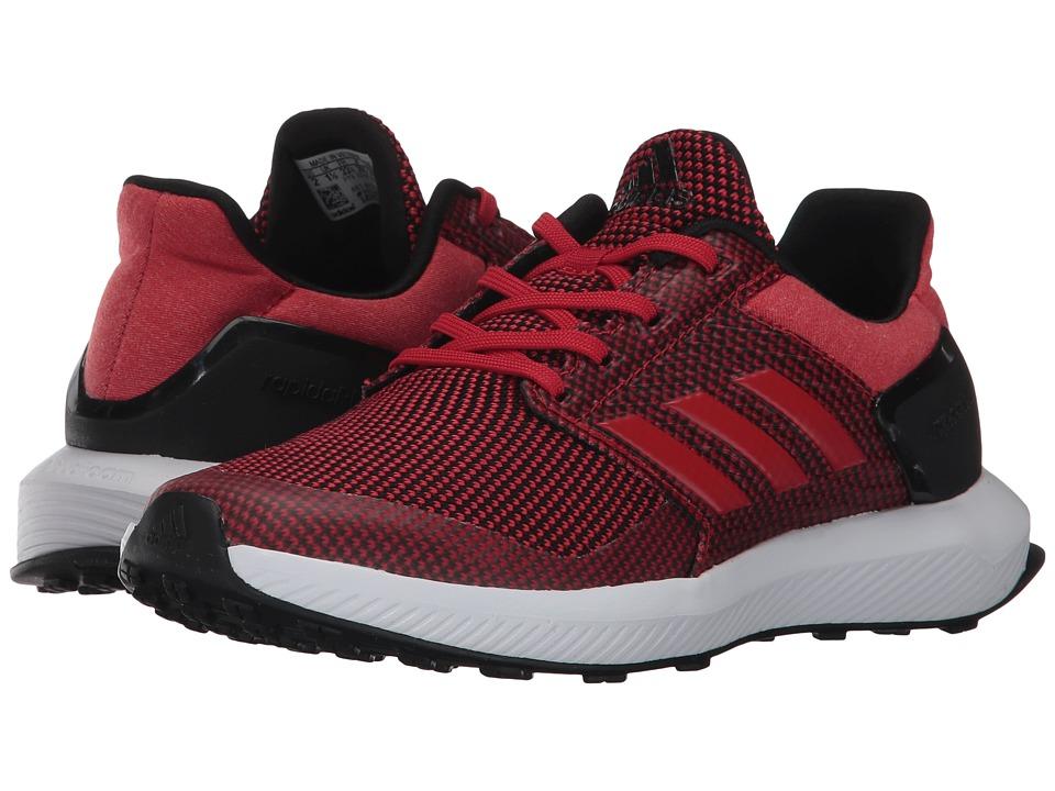 adidas Kids RapidaRun K (Little Kid/Big Kid) (Scarlet/Core Black) Boys Shoes