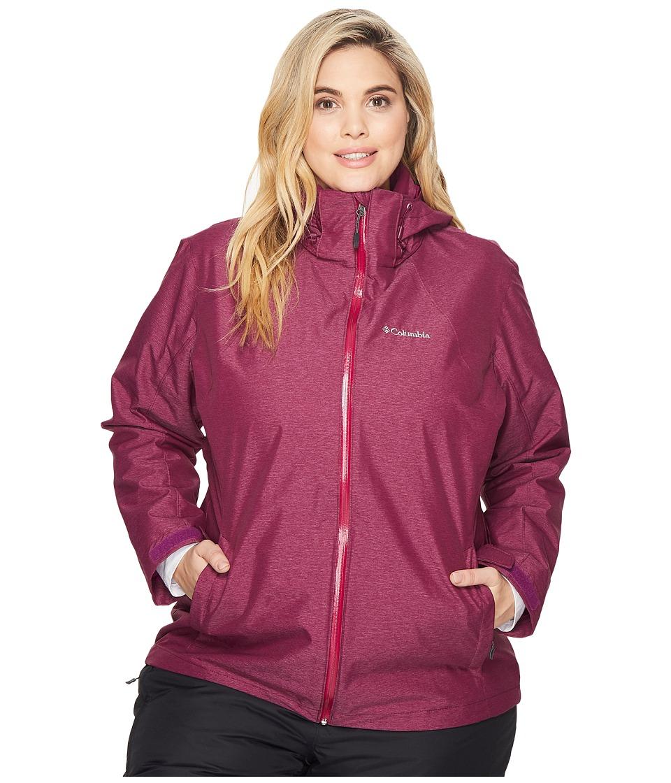 Columbia Plus Size Whirlibirdtm Interchange Jacket (Dark Raspberry Cross Dye) Women