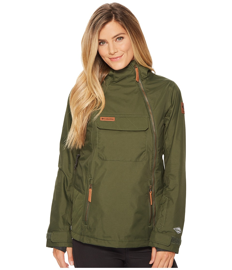 Columbia Catacomb Crest On Snow Anorak (Surplus Green) Women