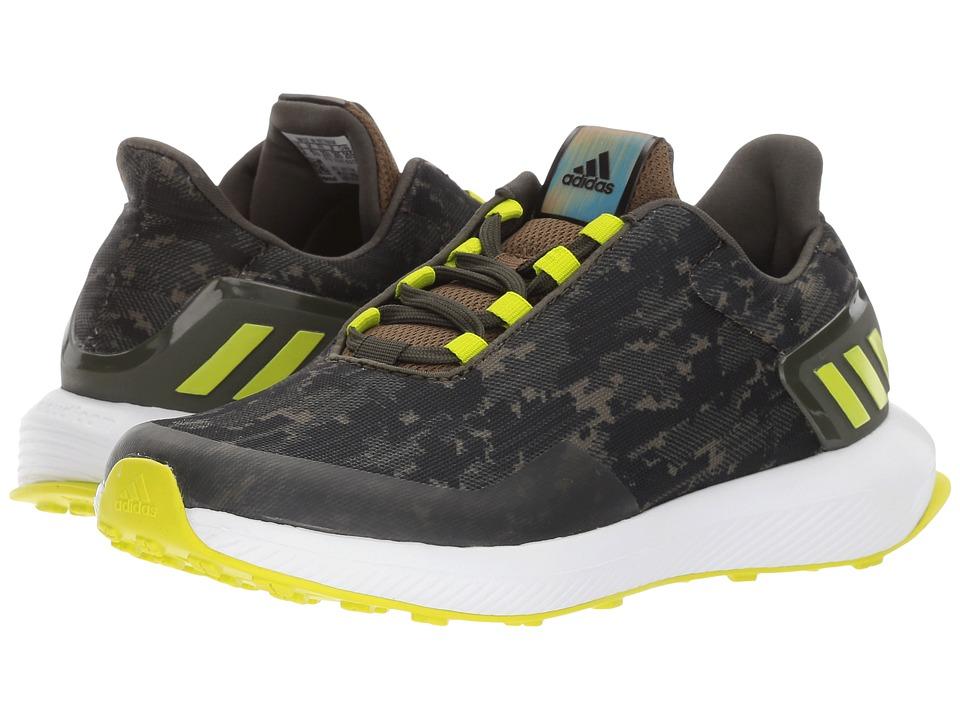 adidas Kids RapidaRun Uncaged K (Little Kid/Big Kid) (Trace Olive/Solar Yellow/Night Cargo) Boys Shoes