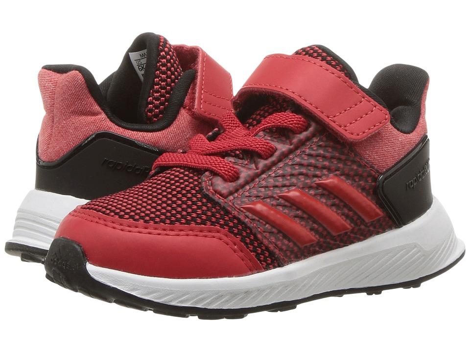 adidas Kids RapidaRun EL I (Toddler) (Scarlet/Core Black) Boys Shoes