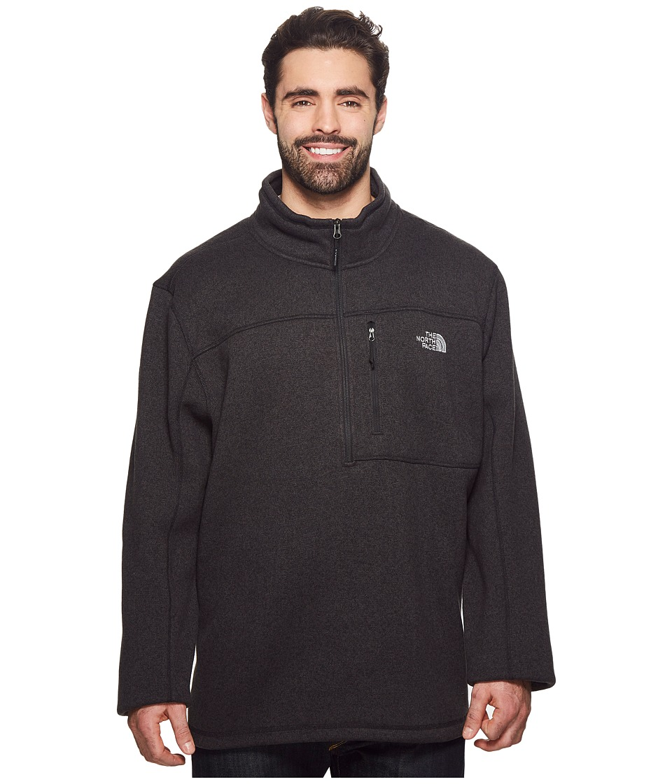 The North Face - Gordon Lyons 1/4 Zip 3XL (TNF Black Heather) Mens Long Sleeve Pullover