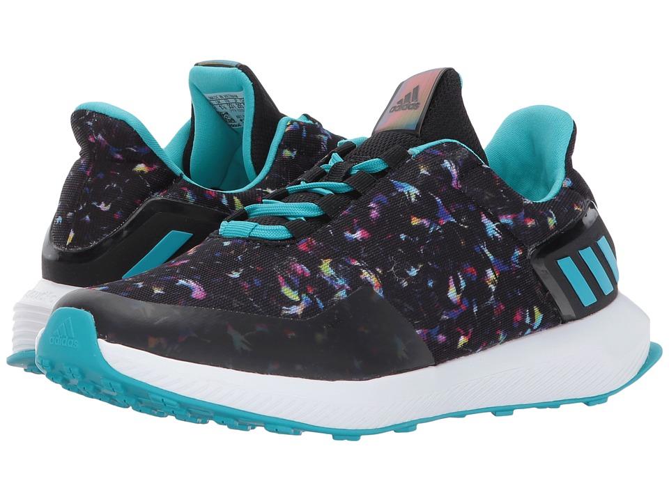 adidas Kids RapidaRun Uncaged K (Little Kid/Big Kid) (Core Black/Energy Blue/Energy Aqua) Girls Shoes