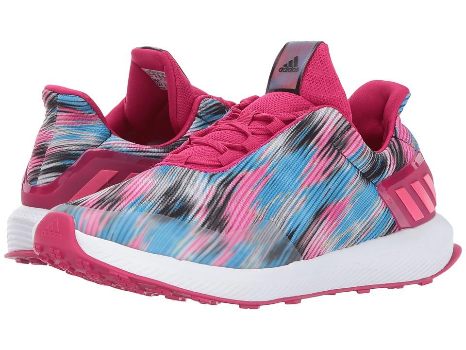 adidas Kids RapidaRun Uncaged K (Little Kid/Big Kid) (Bold Pink/Footwear White/Core Black) Girls Shoes