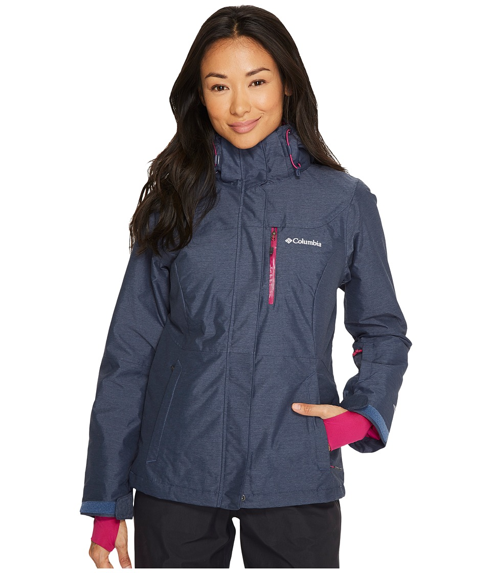 Columbia Alpine Actiontm Omni-Heattm Jacket (Nocturnal Cross Dye/Deep Blush) Women