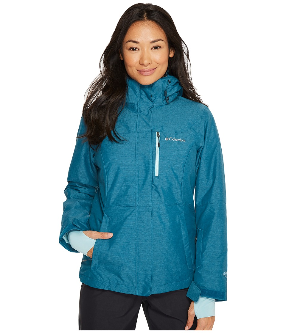Columbia Alpine Actiontm Omni-Heattm Jacket (Aegean Blue Cross-Dye/Aqua Haze) Women