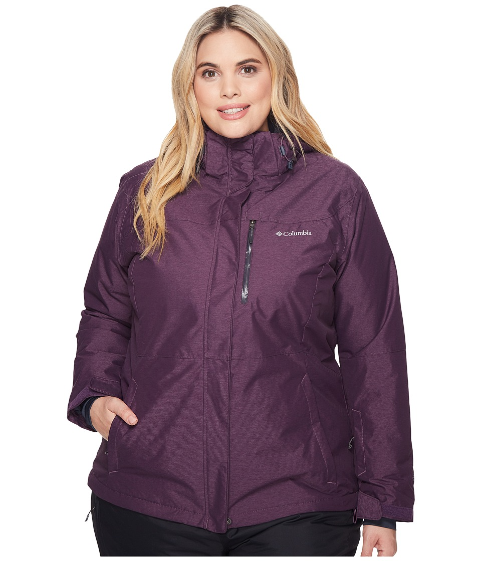 Columbia Plus Size Alpine Actiontm Omni-Heattm Jacket (Dusty Purple Cross Dye/India Ink) Women