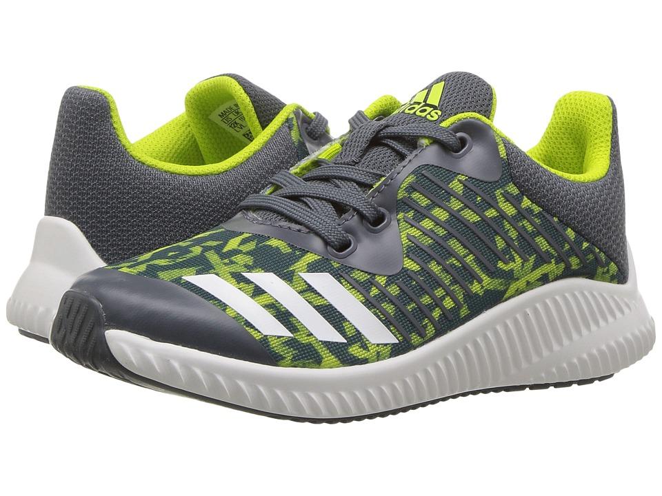 adidas Kids FortaRun K (Little Kid/Big Kid) (Onix/Footwear White/Semi Solar Yellow) Boys Shoes