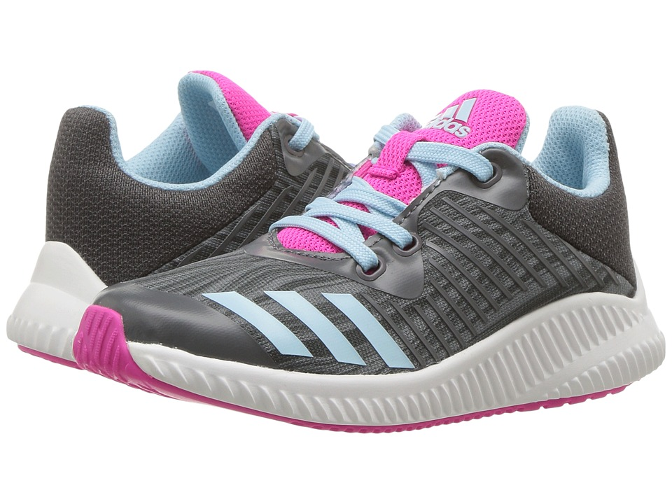 adidas Kids FortaRun K (Little Kid/Big Kid) (Grey Five/Icey Blue/Grey Three) Girls Shoes