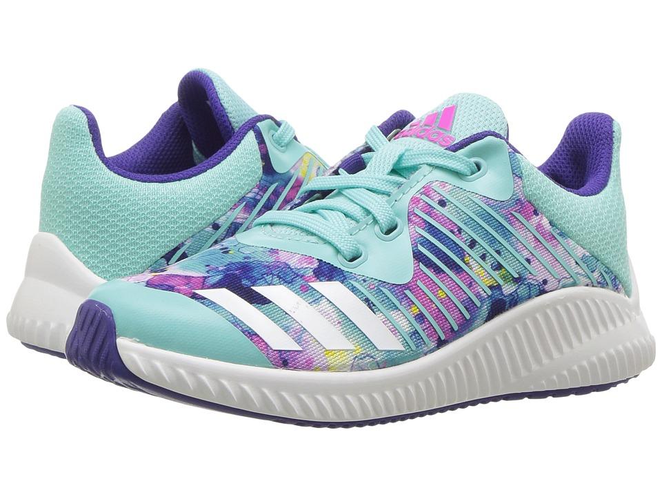 adidas Kids FortaRun K (Little Kid/Big Kid) (Energy Aqua/Footwear White/Energy Ink) Girls Shoes