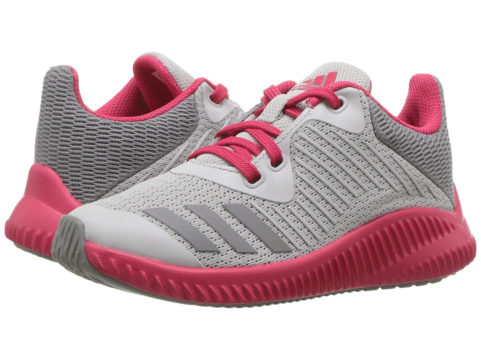adidas Kids FortaRun K (Little Kid/Big Kid) (Grey Two/Grey Three/Energy Pink) Girls Shoes