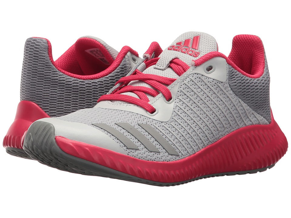 adidas Kids FortaRun K Wide (Little Kid/Big Kid) (Grey Two/Grey Three/Energy Pink) Girls Shoes
