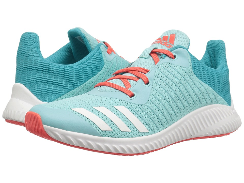 adidas Kids FortaRun K (Little Kid/Big Kid) (Energy Aqua/Footwear White/Easy Coral) Girls Shoes